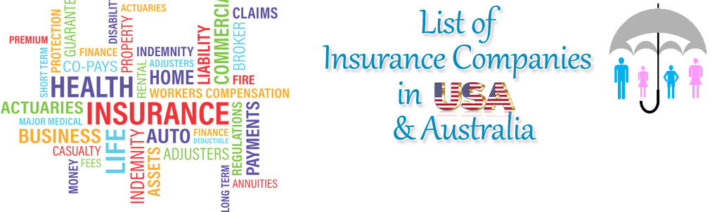 List of Top Insurance Companies in USA & Australia